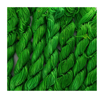 Chinese Knotting Beading Cord Green Approx 1mm 8 (25 Yard Skeins) For Crafts And Knotted Jewelry Like Shamballa Bracelets Z-G-130406104407-233