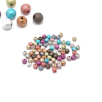 Mixed Acrylic Round Stardust Spacer Beads 8mm, 280 Pack (1.4mm Hole) Rb16917-x1