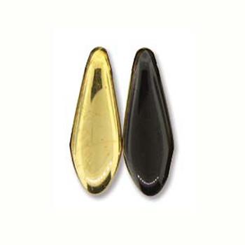 Jet Amber 25 Czech Glass Dagger Drop Beads 5x16mm Dgr51623980-26441