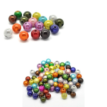 Mixed Miracle Acrylic Round Spacer Beads 10mm 90 Pack (1.4mm Hole) Rb15696-x1