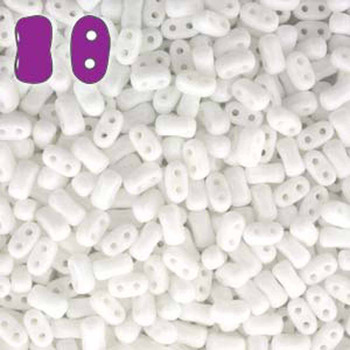 Chalk Bi-Bo Czech Glass 2 Hole Seed Beads 5.5x2.8mm 22Gr Bo52-03000-Tb