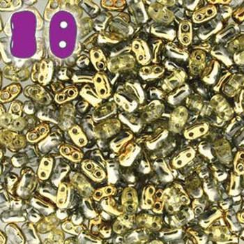 Amber Bi-Bo Czech Glass 2 Hole Seed Beads 5.5x2.8mm 22Gr Bo52-00030-26441-Tb