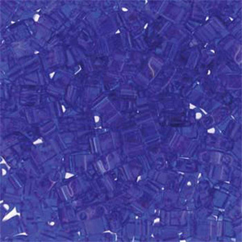 Colbalt Half Tila Beads 7.2 Gram Miuki Square 5mm 2 Hole Tlh151-Tb