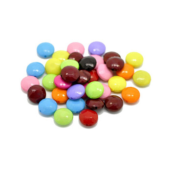 Acrylic Puffed Coin Mixed 14mm Beads, 90 Pack (1.2mm Hole) Rb19606-x1