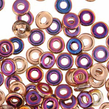 Crystal Sliperit O-Beads 3.8x1mm Czech Glass Mini Flat Ring 8 Gram Ob2400030-29500-Tb