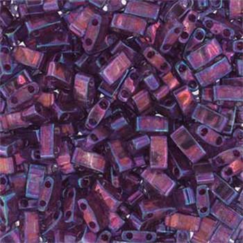 Light Amethyst Gold Luster Half Tila Beads 7.2 Gram Miuki Square 5mm 2 Hole Tlh316-Tb
