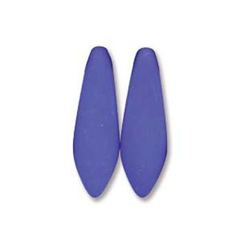 Neon Blue 25 Czech Glass Dagger Drop Beads 5x16mm Dgr516-25126