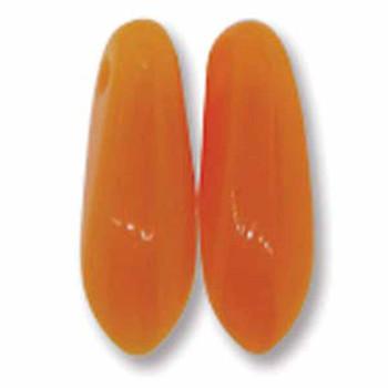Opaque Orange 50 Czech Glass Dagger Drop Beads 3x11mm Dgr31193110