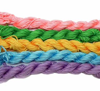 Chinese Knotting Beading Cord Mixed Approx 1.5mm 5 (12 Yard Skeins) For Crafts And Knotted Jewelry Like Shamballa Bracelets Z-G-131128170537-Mix1