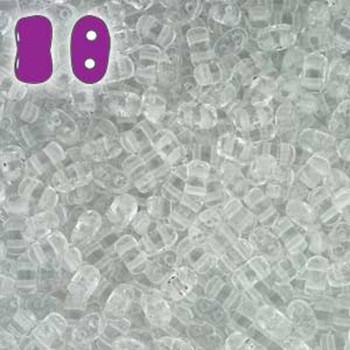 Crystal Bi-Bo Czech Glass 2 Hole Seed Beads 5.5x2.8mm 22Gr Bo52-00030-Tb