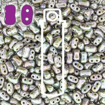 Chalk Lazure Blue Bi-Bo Czech Glass 2 Hole Seed Beads 5.5x2.8mm 22Gr Bo52-03000-65431-Tb