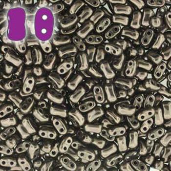 Jet Copper Bi-Bo Czech Glass 2 Hole Seed Beads 5.5x2.8mm 22Gr Bo52-23980-14435-Tb