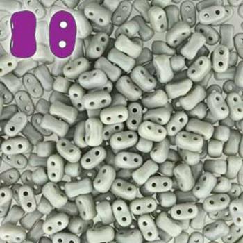 Opaque Grey Bi-Bo Czech Glass 2 Hole Seed Beads 5.5x2.8mm 22Gr Bo52-43020-Tb