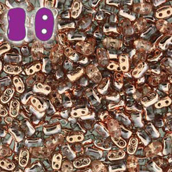 Crystal Capri Gold Bi-Bo Czech Glass 2 Hole Seed Beads 5.5x2.8mm 22Gr Bo52-00030-27101-Tb