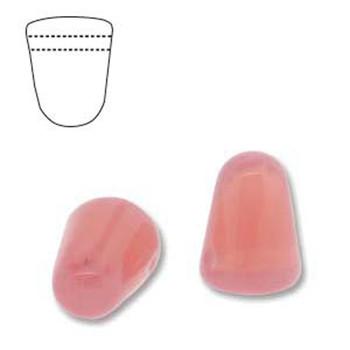 Milky Pink 20 Czech Glass Gumdrop Beads 7 5x10mm Gum710-71010