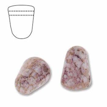 White Violet Luster 20 Czech Glass Gumdrop Beads 7 5x10mm Gum710-02010-15496