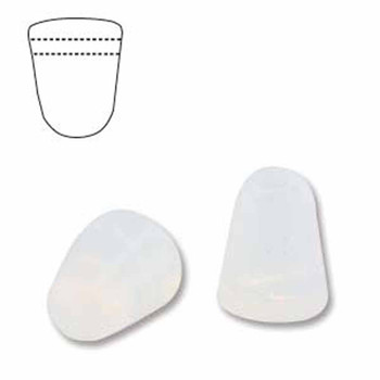 Milky White 20 Czech Glass Gumdrop Beads 7 5x10mm Gum710-01000