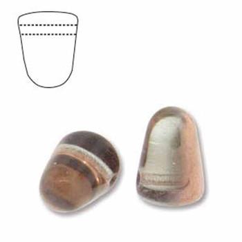 Crystal Gold Capri 20 Czech Glass Gumdrop Beads 7 5x10mm Gum710-00030-27101