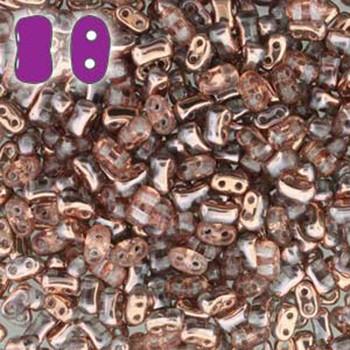Rosaline Capri Gold Bi-Bo Czech Glass 2 Hole Seed Beads 5.5x2.8mm 22Gr Bo52-70120-27101-Tb