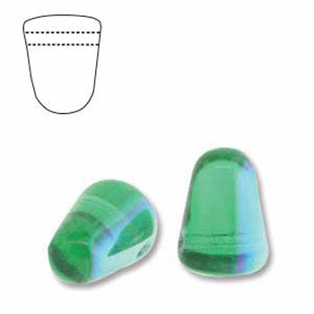 Peridot Blue Ab 20 Czech Glass Gumdrop Beads 7 5x10mm Gum710-50650-28701