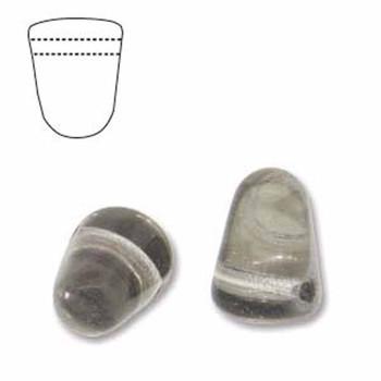 Crystal Chrome 20 Czech Glass Gumdrop Beads 7 5x10mm Gum710-00030-27401