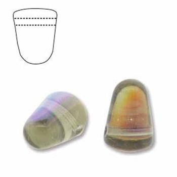Black Ab 20 Czech Glass Gumdrop Beads 7 5x10mm Gum710-40010-28701