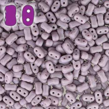 Opaque Violet Bi-Bo Czech Glass 2 Hole Seed Beads 5.5x2.8mm 22Gr Bo52-23020-Tb