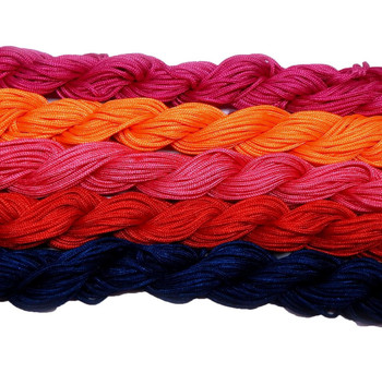 Chinese Knotting Beading Cord Mixed Approx 1.5mm 5 (12 Yard Skeins) For Crafts And Knotted Jewelry Like Shamballa Bracelets 5 Z-G-131128170537-Mix4