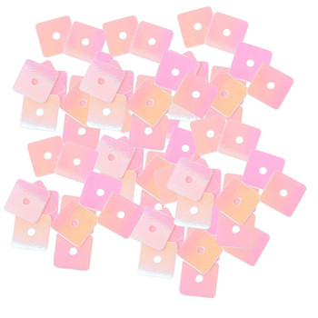 4000 Pink Square Pvc Sequins For Sewing Scrapbooking Crafts 7mm Rb38425