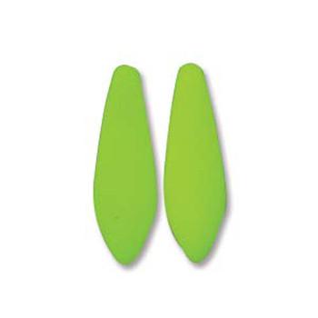 Neon Lime 25 Czech Glass Dagger Drop Beads 5x16mm Dgr516-25142