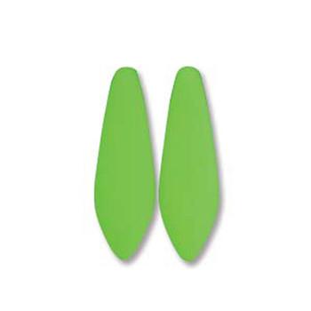 Neon Green 25 Czech Glass Dagger Drop Beads 5x16mm