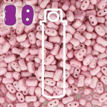 Chalk Lila Luster Bi-Bo Czech Glass 2 Hole Seed Beads 5.5x2.8mm 22Gr Bo52-03000-14494-Tb