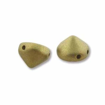 Olivine Metalic Matte 20 Czech Glass Tipp 2 Hole 8mm Chocolate Chip Beads Tip0829418