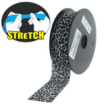 Snow Leopard 30mm Fashion Flat Stretch Cord 10 Yd Jewelry Spandex
