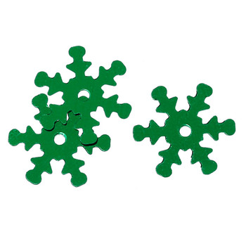 800 Green Snowflake Sequins For Sewing Card Making Scrapbooking Crafts 13mm Rb42512
