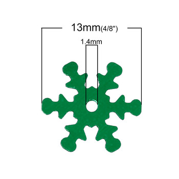 800 Green Snowflake Sequins for Sewing Card Making Scrapbooking Crafts 13mm