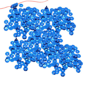 4000 Blue Sequin With Paillette Sewing/Embellishment Findings 7mm Rb05693