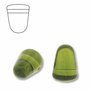 Olivine 20 Czech Glass Gumdrop Beads 7 5x10mm Gum710-50230