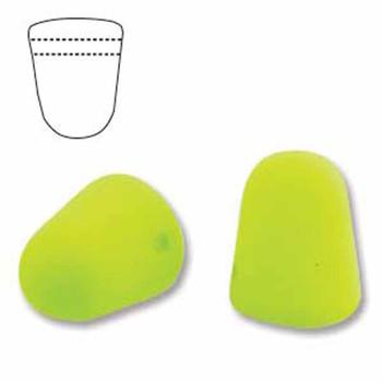 Neon Lime 20 Czech Glass Gumdrop Beads 7 5x10mm Gum710-25142