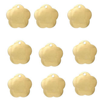 95 Brass Plated Alloy Metal Stamping Blanks Flower Drop15x14mm Rb51627