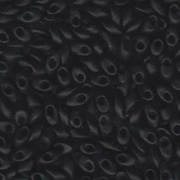 100 Grams Black Matte 4x7mm Miyuki Long Magatama Glass Fringe Beads Lma-401F