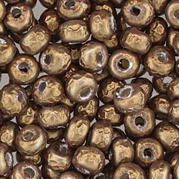 Baroque Pearl Ant Brass Miyuki E Beads 5/0 Seed Bead Glass 18-19 Grams 05-3955
