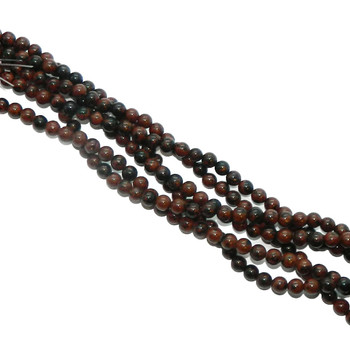 "6mm Mahogany Obsidian Natural Round Beads 40Cm 15"" Stone B1-6B28"