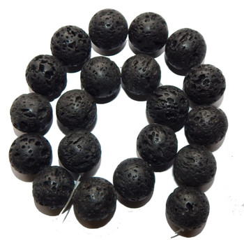 20mm Volcanic Lava Rock Natural Round 18 Beads 7/8 Inch B1-K9B