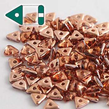 Rosaline Capri Gold Czech Glass Seed Tri Beads 4.6mmx1.3mm Thick Approx 9Gr Tube Tri2470120-27101-Tb