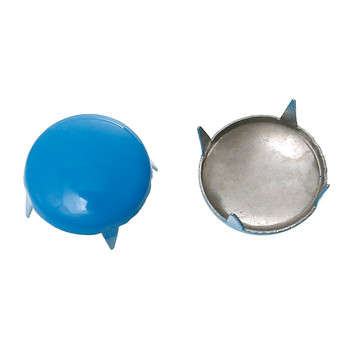250 Spike Rivets Studs Round Silver Tone Painted Blue 12mm 1/2 Inch Z-B44017