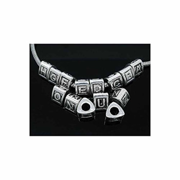 26 Pcs Antique Silver Zinc All Alphabet Letters(A-Z) Charms Beads Rb04598