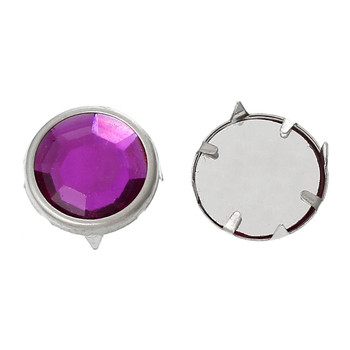 Spike Rivets Studs Square Silver Purple Acrylic 13mm 250 Pcs Rb44002