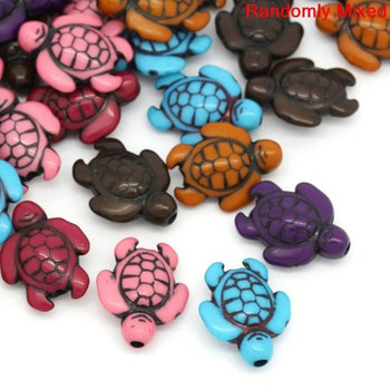 90 Turtle Beads Mixed Acrylic Beads About 18mm With Hole 1.8mm Rb27099