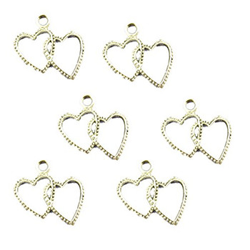 38 Charm Pendants Beads Heart Antique Silver 20x23mm Rb00617